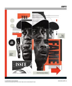 ESPN The Magazine / 0509 / Fame Illustration by Mike McQuade http://mikemcquade.com Icon by Tim Boelaars http://www.timboelaars.nl