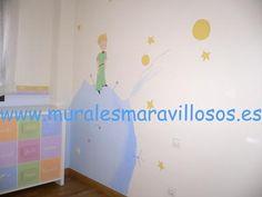 Murales pintados en paredes. Toda España. El Principito. www.muralesmaravillosos.es