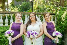 118 Barclay Villa wedding photography NC, purple wedding flowers