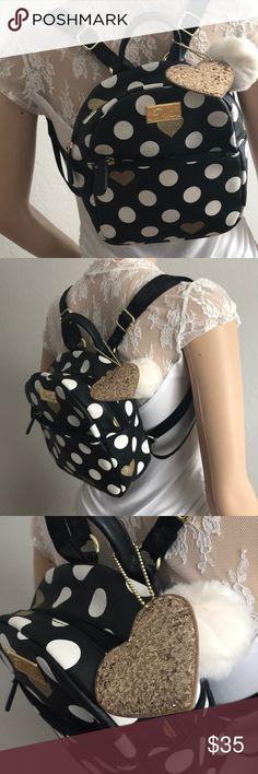 "Betsey Johnson Small Backpack Cute , small backpack from Betsey Johnson 🦋 7"" W, 8.5"" H, 3.5"" D Betsey Johnson Bags Backpacks"