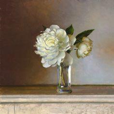 Jeffrey T. Larson Peony Blossom Oil on Panel 12x11 inches 2012