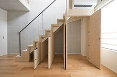 Basement stairs - There is no shortage of stairway design ideas to make your stairway a charming part of your home. Open Staircase, Loft Stairs, Basement Stairs, House Stairs, Staircase Design, Open Basement, Staircase Ideas, Basement Ideas, Stairway Storage