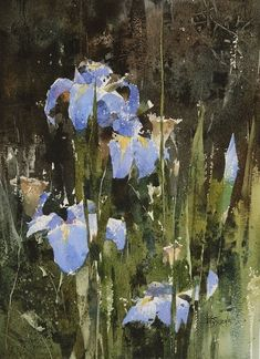 Chien Chung Wei Watercolor in 2015 Watercolor Projects, Watercolor Artists, Watercolor Landscape, Watercolor Paintings, Watercolors, Art Floral, Abstract Flowers, Watercolor Flowers, Art Chinois