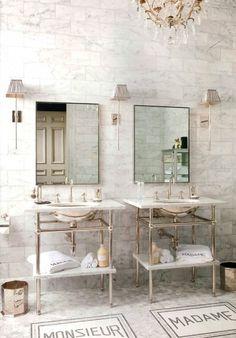 Marble, bathroom, I've always loved this floor.
