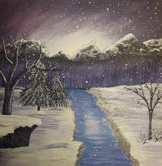 Winter scene Winter Scenes, My Arts, Sketches, Artwork, Painting, Drawings, Work Of Art, Painting Art, Sketch