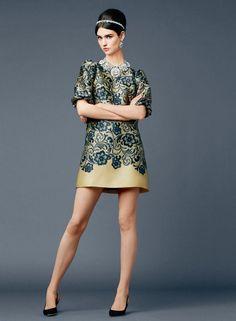 Dolce&Gabbana Spring Summer 2014 Lace Application Silk Dress