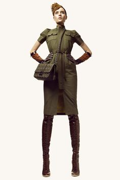 Military dress. Except for the purse, i love the outfit.