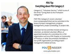 PDU Tip - Everything about PDU Category E. #projectmanager #PMP #projectmanagement #PMOT #PDU