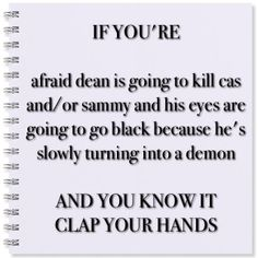 Umm yup! <-- my heart contracted alittle today when I thought he was going to kill that woman angel for no reason. It hit me, I'm losing Dean. This isn't the Dean I know.