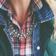 Fall Outfit - Tartan & Gems