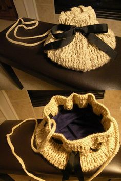 DIY bag crocheted by moi :)