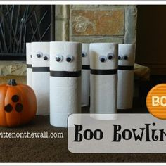 Boo Bowling Game {Halloween Carnival Game Ideas}