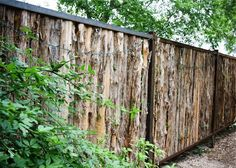 rough cedar fence - don't know where I would put it but LOVE this