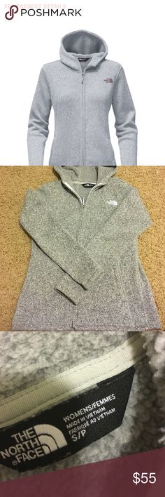 Hooded north face fleece Hooded north face women's fleece. Great condition. Soft inner fleece lining. Size small S/P. Would also trade for Patagonia sweater. Price is firm. The North Face Jackets & Coats