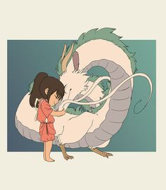 Chihiro and Haku (finished) by PantryMoth on DeviantArt