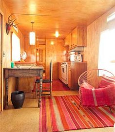 Vintage trailer camping at El Cosmico in Marfa, Texas