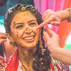 When you're so lovely that even a face full of haldi doesn't stop you!  .  .  @cupcakeprouctions  .  .  #weddingzin #wedding #weddingphoto #weddingplanner #weddingdress #wedding #weddinggoals #weddinginspo #weddingphotography  #indianbride #instalike #instalove