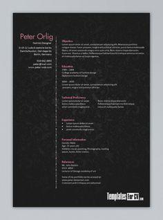 Free Interior Design Resume Templates | INTERIOR DESIGN SAMPLE ...