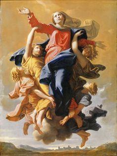 Вознесение Девы Марии. Никола Пуссен Лувр, Париж (Musée du Louvre, Paris). 1650, 57х40