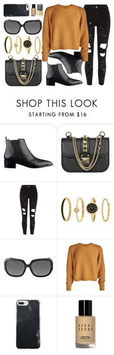 """Cinema Night"" by jomashop ❤ liked on Polyvore featuring Valentino, River Island, Anne Klein, Christian Dior, Bobbi Brown Cosmetics, NARS Cosmetics, black and camel"