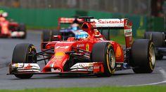 Fernando Alonso en piste dans sa Ferrari