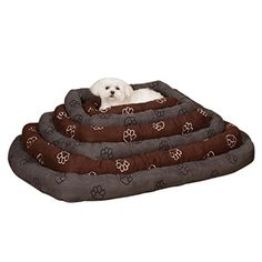 Slumber Pet Embroidered Paw Print Crate Dog Mat Size: Medium/Large L x W), Color: Chocolate Diy Dog Crate, Crate Bed, Large Dog Crate, Dog Crates For Sale, Indestructable Dog Bed, Airline Pet Carrier, Dog Crate Furniture, Dog Shock Collar, Dog Car Seats