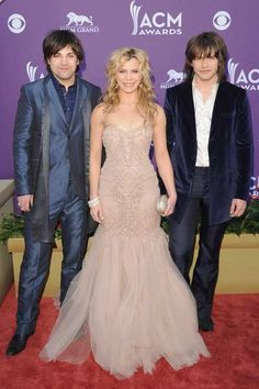 The 47th Academy of Country Music Awards | Red Carpet--Musicians Neil Perry, Kimberly Perry and Reid Perry of The Band Perry.