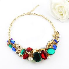 Highly Recommend New 2014 Spring style Luxuriant Collar Colorful Rhinestone Chunky Necklace-in Choker Necklaces from Jewelry on Aliexpress. Chokers, Choker Necklaces, Statement Jewelry, Pandora Charms, Spring Fashion, Charmed, Bracelets, Spring Style, Accessories