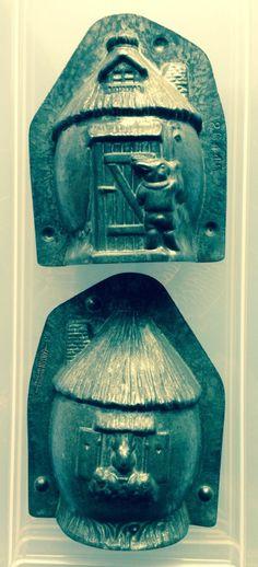"Antique Chocolate Mold Anton Reiche "" Easter Rabbit House "" 26145 | eBay"