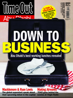 Down to Business - Abu Dhabi's best working lunches revelaed