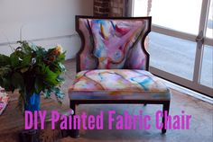 DIY Painted Fabric Chair - Lifeovereasy