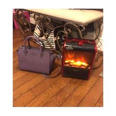 #Compact #Electric #Metal Mini #Fireplace #Heater #Red #Portable 1,200W up to 200sq.