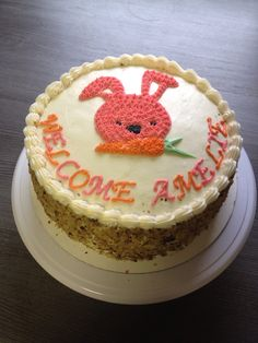 Bunny carrot cake-Made by Melia Healy