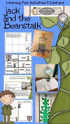 Little Bird Kindergarten: Jack and the Beanstalk Literacy Fun Activities and Centers / Writing and Kid pleasing Craftivity!