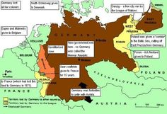 Territorial clauses of the Treaty of Versailles with Germany 1919