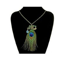Beaute Galleria - Peacock Fashion Jewelry (Feather peacock necklace)