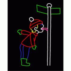 Boy Frozen to Pole #Winter #Ice #Christmas
