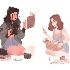 A couple of modern day witches gif/animated version on my tumblr &…