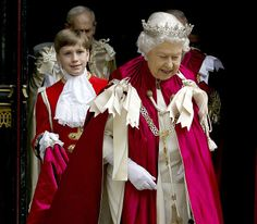 The Queen leaves Westminster Abbey following the Order of the Bath service which she attends every eight years as Sovereign, 9 May 2014. The...