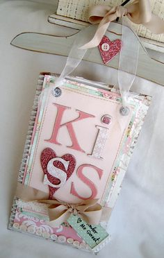 shabby chic journal or great V-Day decoration