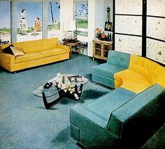 Living Room (1954) - Love the table and the selectional