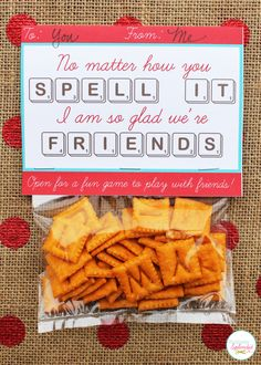 Edible Scrabble valentine idea, including a free printable card with a game board inside. So Valentine Kinder Valentines, Homemade Valentines, Valentines Day Treats, Valentine Day Love, Valentine Day Crafts, Funny Valentine, Valentine Ideas, Printable Valentine, Holiday Crafts