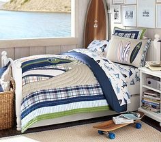 dark chestnut twin size panel bed with nightstand and matching surf