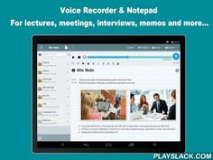Mic Note  Android App - playslack.com , ☛Mic Note is an audio recorder + notepad, 2 in 1 tool.☛Are you looking for a voice recorder and still want to take notes and photos in the same time? you are right here.☛Perfect for Lectures, Meetings, Conferences, Interviews, Brainstormings, Quick Notes, To-Do Lists, Plannings and more.☛Awesome for Work, School and Daily Life.Desktop apps available at: http://www.micnote.audio (for Windows, Mac)------------------------------------PROMOTION…