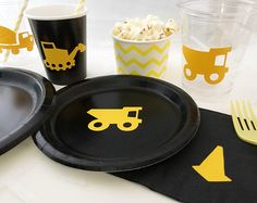 Construction Party Pack - Construction Party Plates - Foreman Birthday - Under Construction - Hard Hat Zone - Dump Truck Plates - Excavator