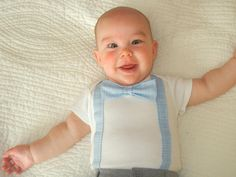 Suspender Bodysuit / Child Boy Clothes / Bow Tie Bodysuit / Bow Tie and Suspender Bodysuit / Blue Bow Tie / Photograph Outfit / First Birthday - http://www.babies-clothes.info/suspender-bodysuit-child-boy-clothes-bow-tie-bodysuit-bow-tie-and-suspender-bodysuit-blue-bow-tie-photograph-outfit-first-birthday.html