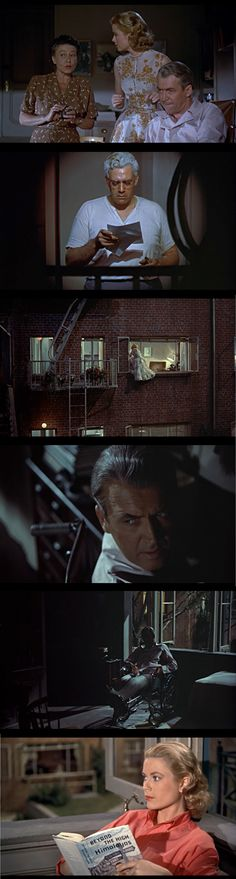 "Stills from ""Rear Window"" -- Hitchcock. 1954."