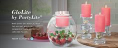Jeana`s personal website-check out this amazing glo lite DIY jar holder! The bottom is completely re-fill able to let you change candle and contents every season!!