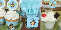 Monkey Boy Birthday Party Theme - In Use 1 Baby Shower Decorations For Boys, Boy Baby Shower Themes, Baby Shower Favors, Baby Shower Games, Baby Boy Shower, Wall Decorations, Monkey Birthday Parties, Birthday Themes For Boys, Birthday Party Themes