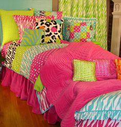 Zebra Patch Bedding - Girls Room Bedding